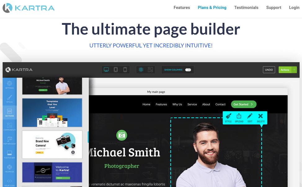 Kartra best landing page builder