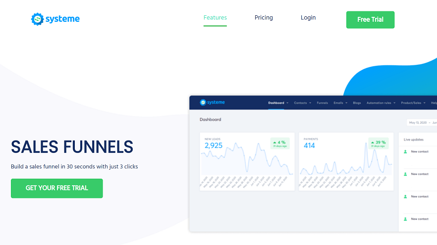 systeme.io sales funnel tools