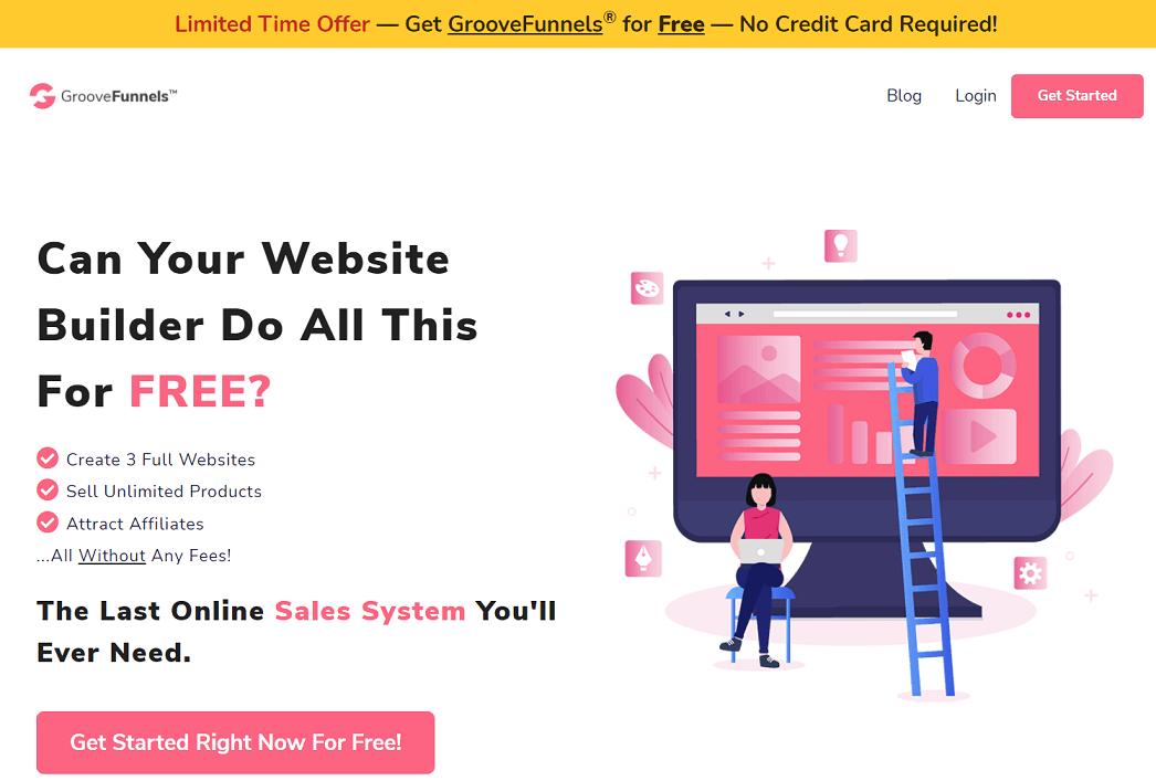 GrooveFunnels All in one marketing platform