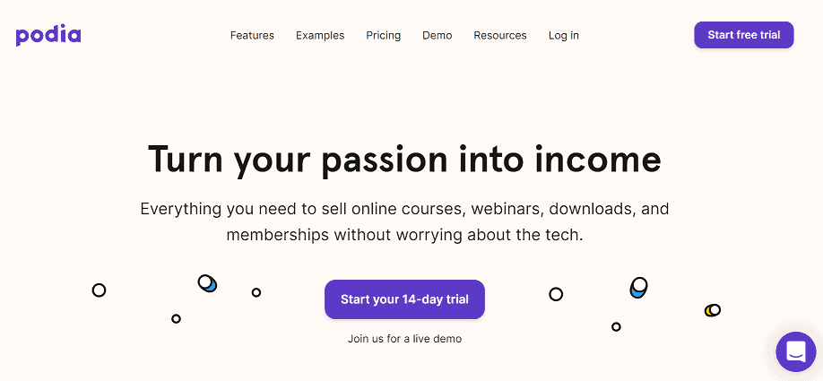 Podia online course platform