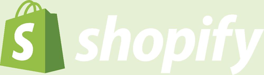 shopify logo white