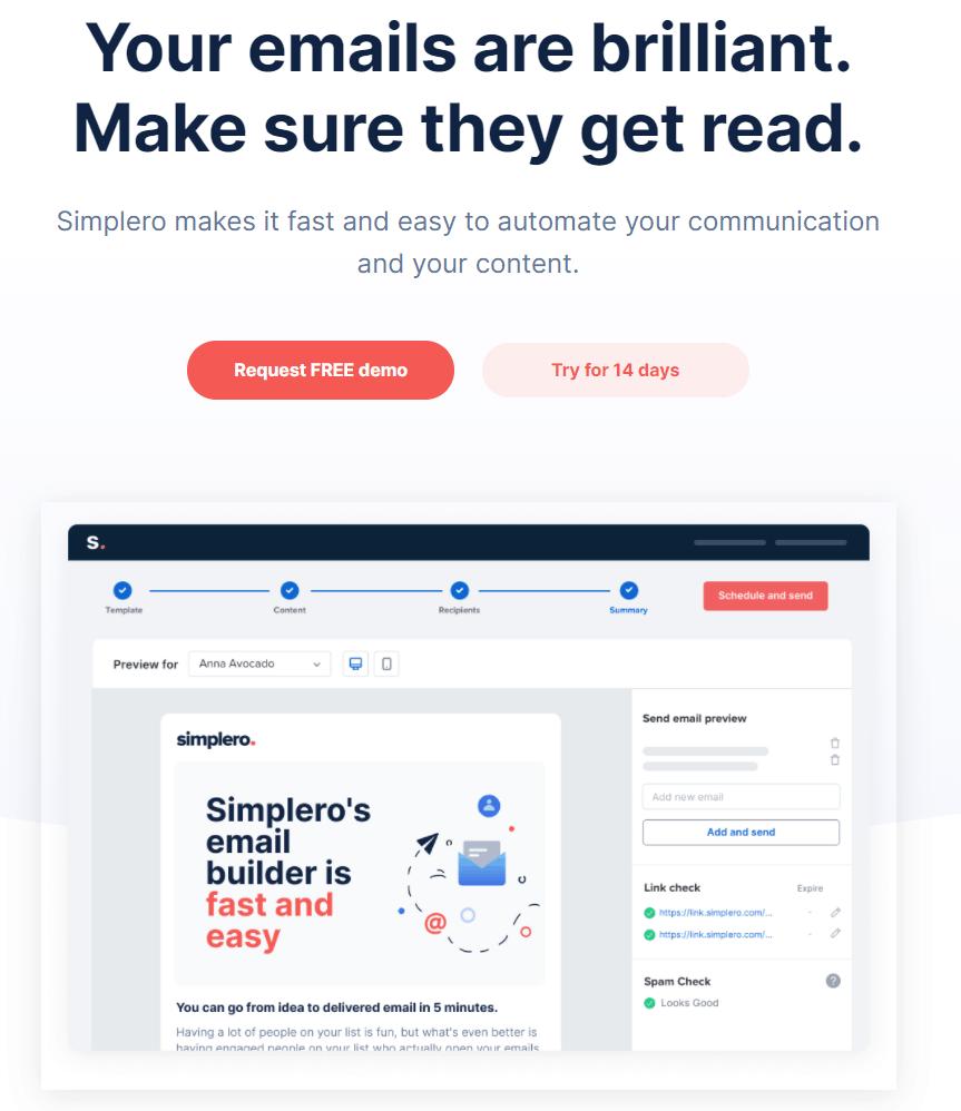 Simplero email marketing