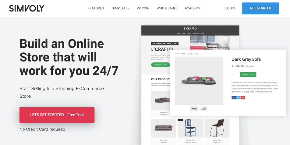 Simvoly Sales eCommerce