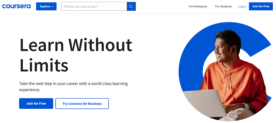 Coursera online learning platforms