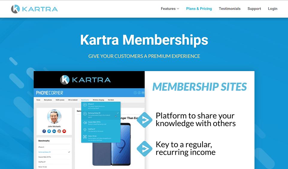 Kartra Membership platform