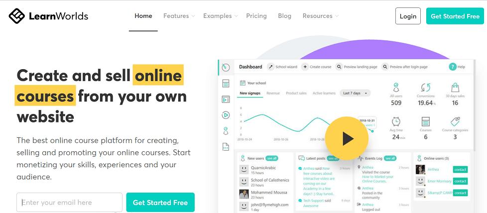 LearnWorlds online course platform