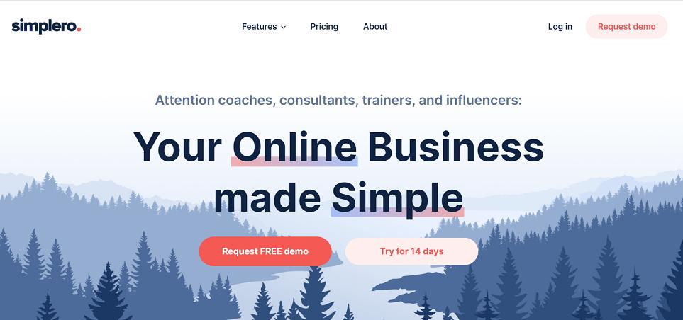 Simplero best online course software platform