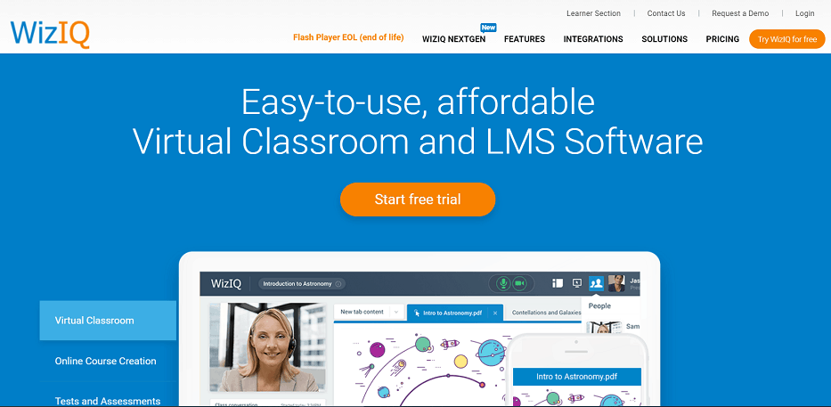 WizIQ best online learning platforms