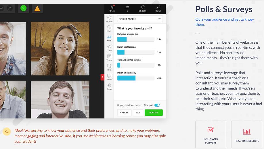 WebinarJam Polls & Surveys