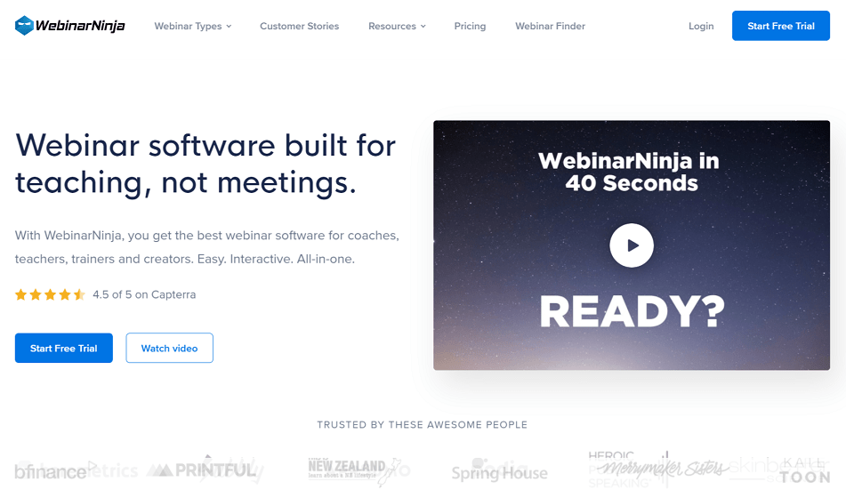 WebinarNinja Features